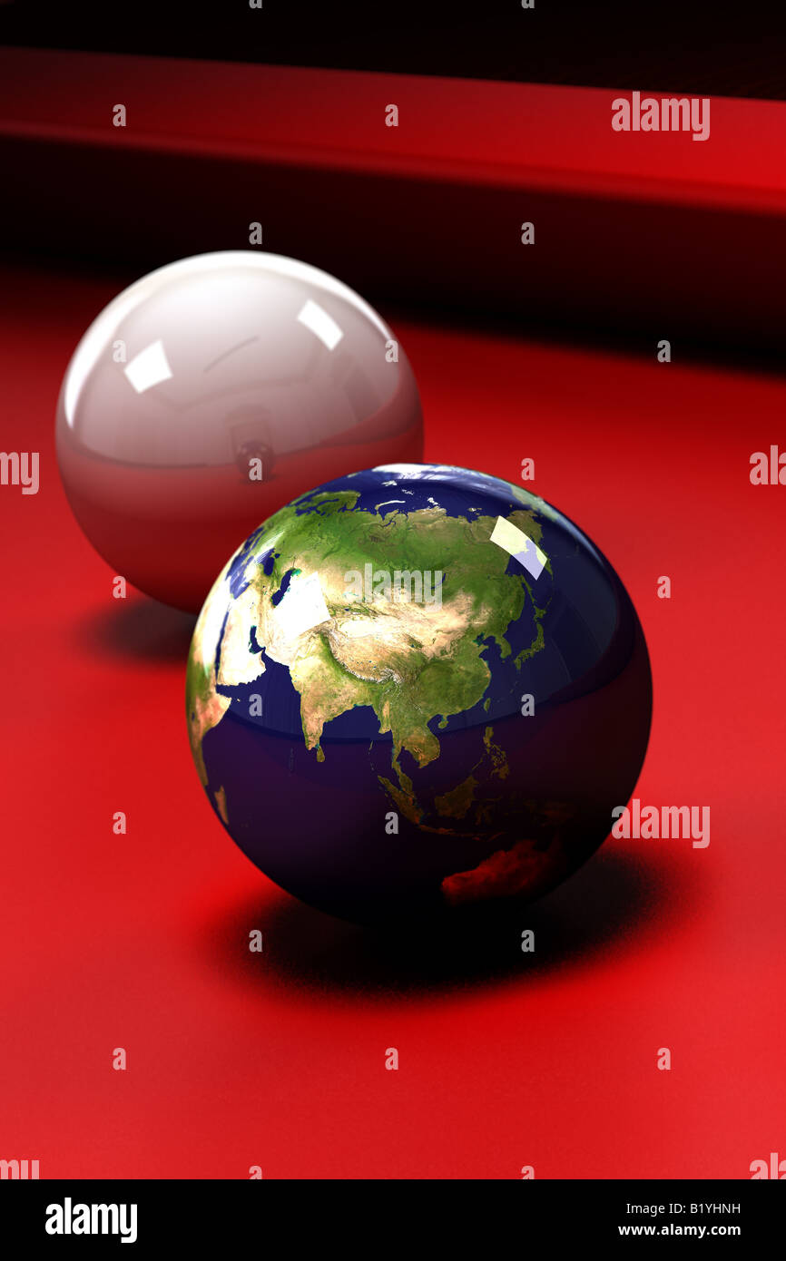 Earth at stake - Stock Image