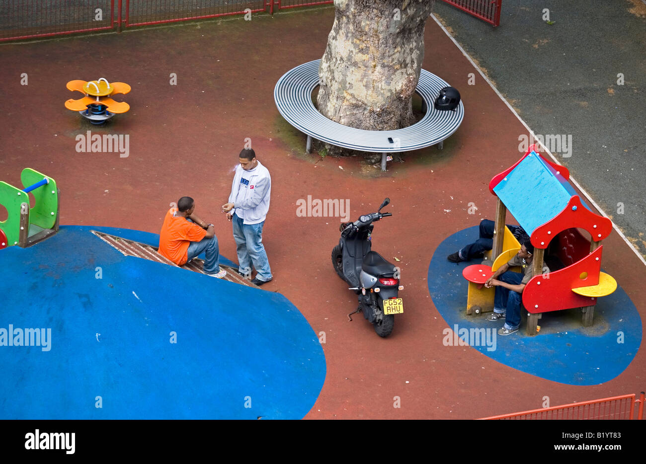 In Britains Playgrounds Bringing In >> Teenagers Hanging Around In Children Playground London