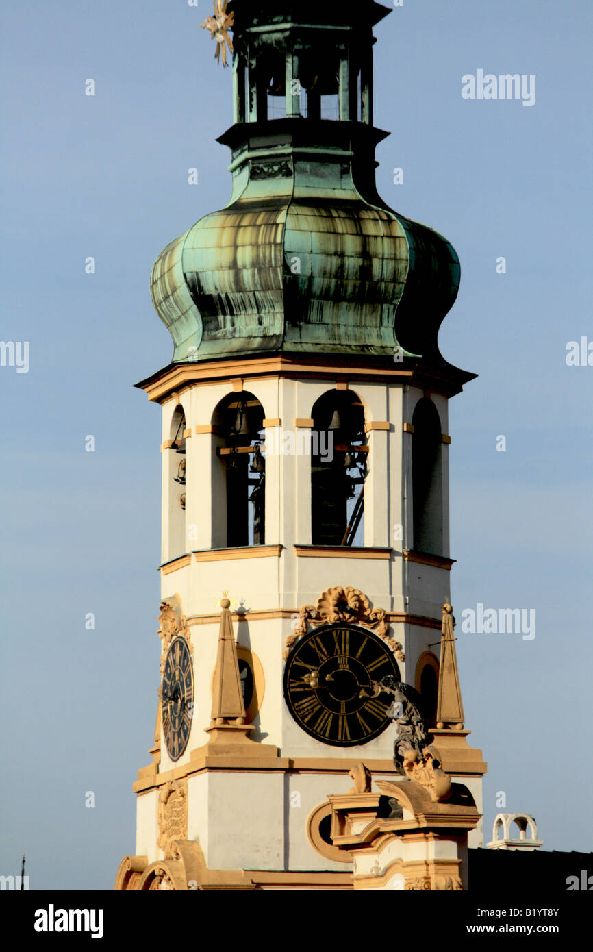 Loreto belltower, Hradcanske, Prague Czech Republic - Stock Image