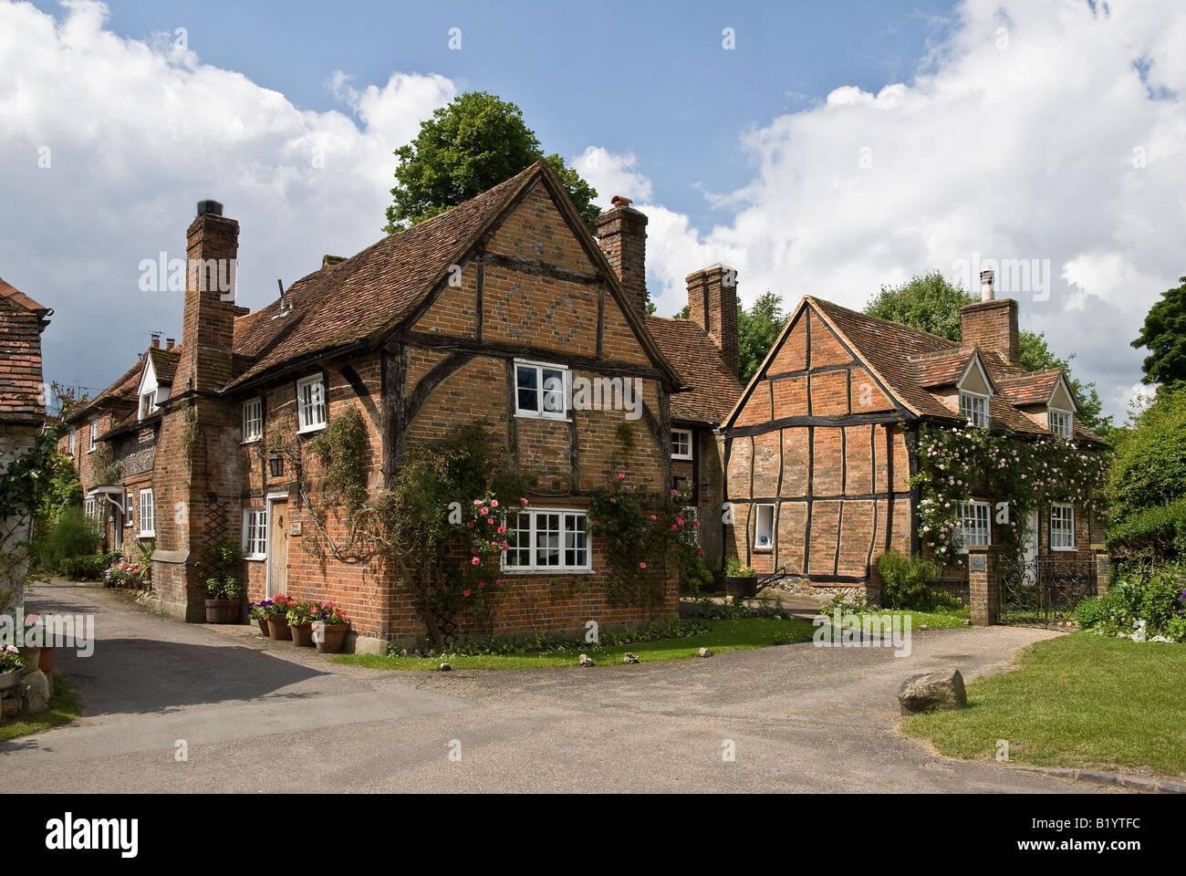 Turville Buckinghamshire UK view - Stock Image