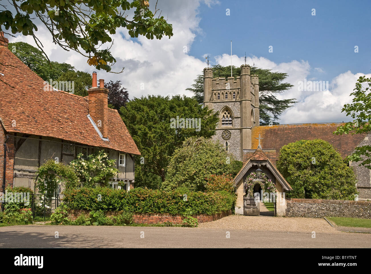 Hambleden Buckinghamshire UK view Stock Photo
