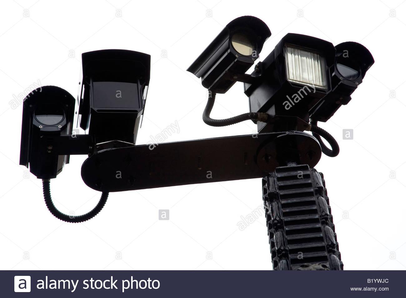 CCTV Cameras, Urban Street Details. - Stock Image