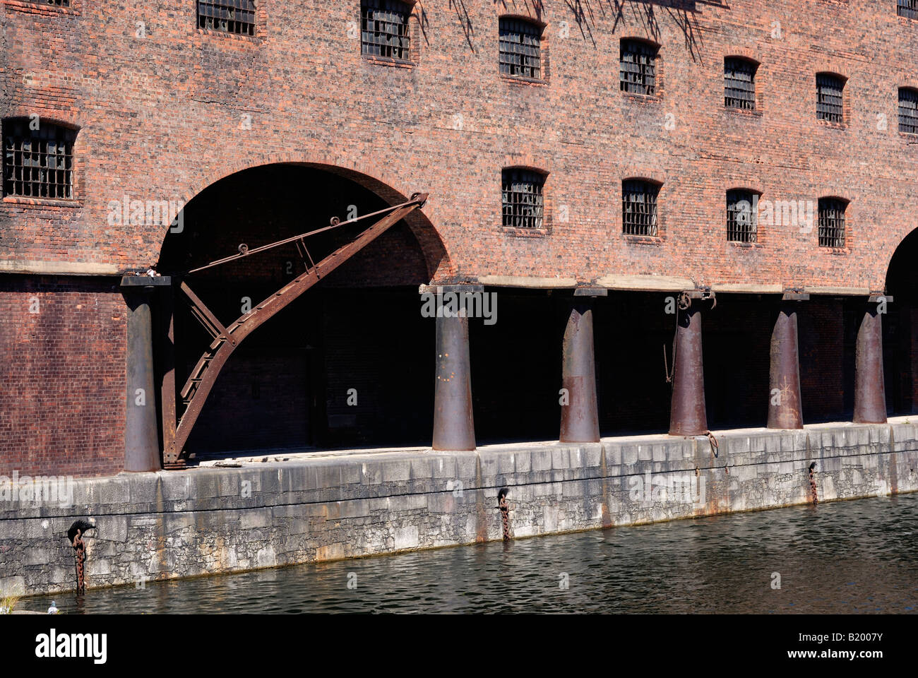 Stanley Dock in Liverpool grade II listed buildings Stock Photo