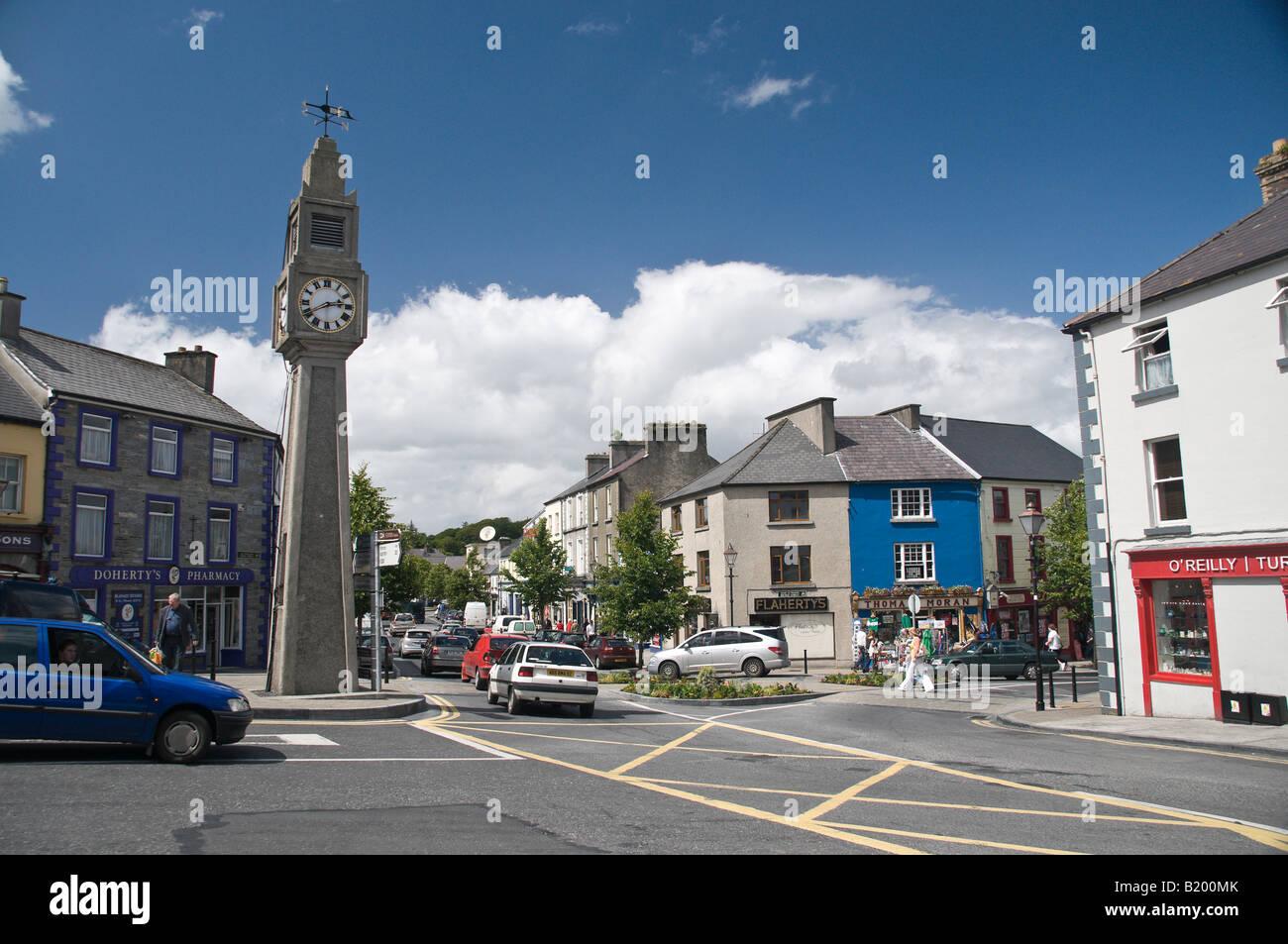 Clocktower, The Square, Westport, Co Mayo, Ireland - Stock Image