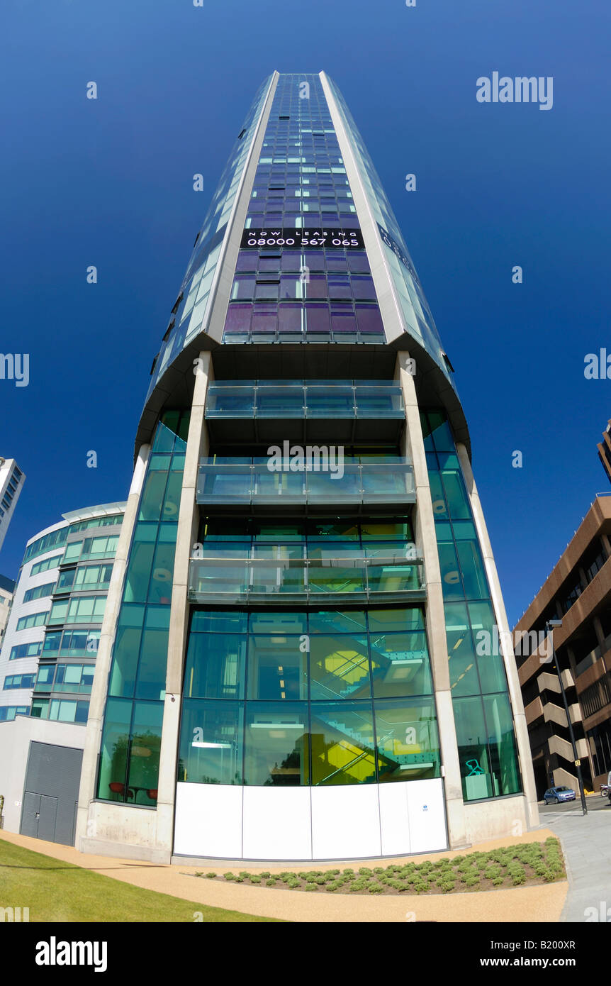 The Beetham Tower West, Liverpools tallest building (2008) at 90 metres 295 feet high. Stock Photo