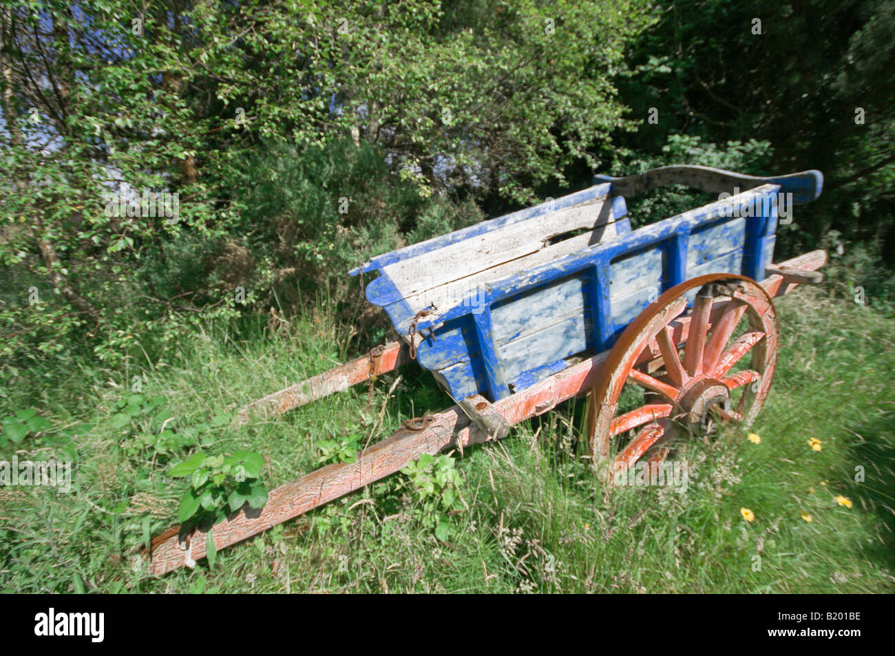 Abandoned horse drawn carriage - Stock Image
