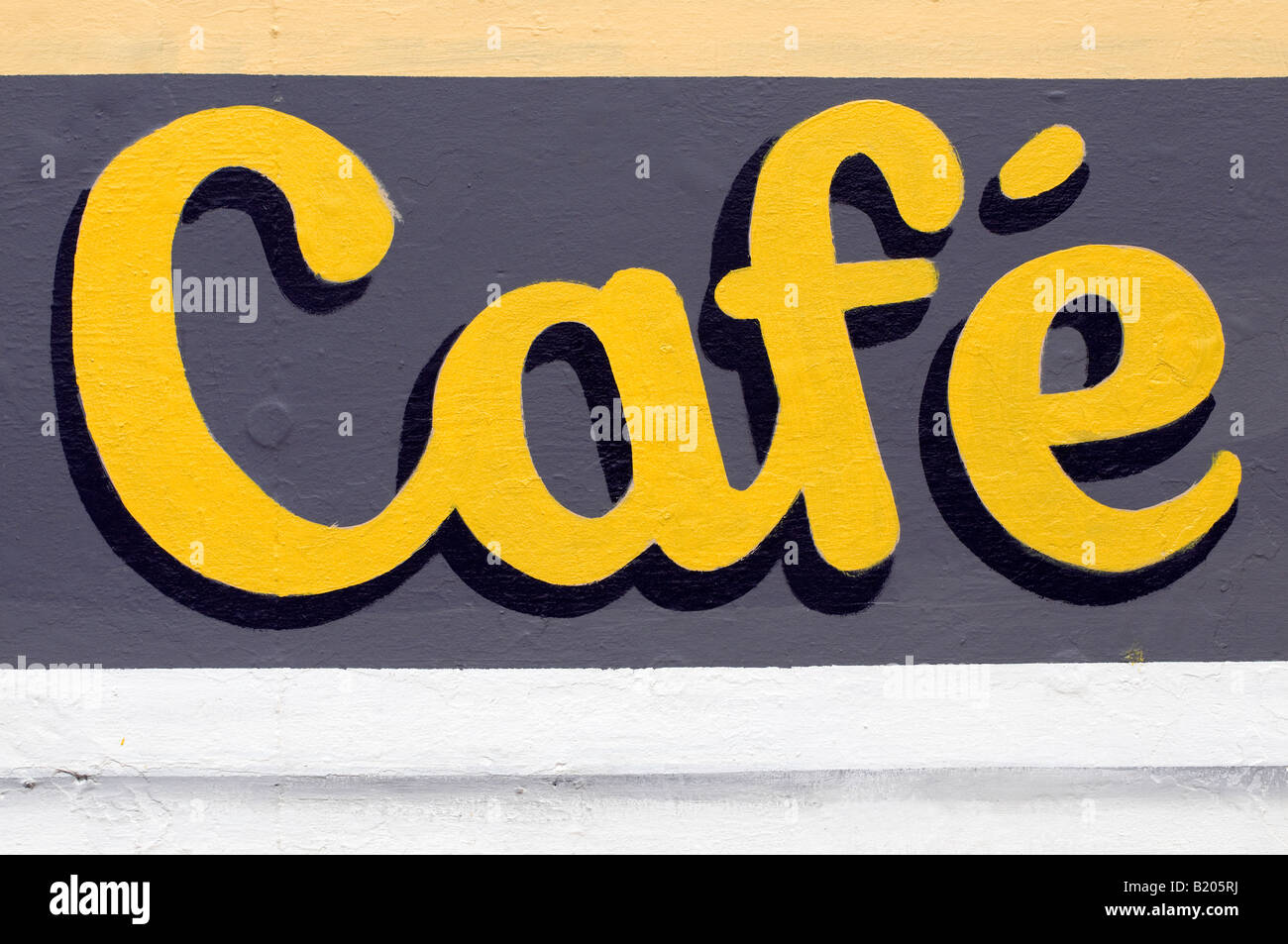 hand painted cafe sign - Stock Image