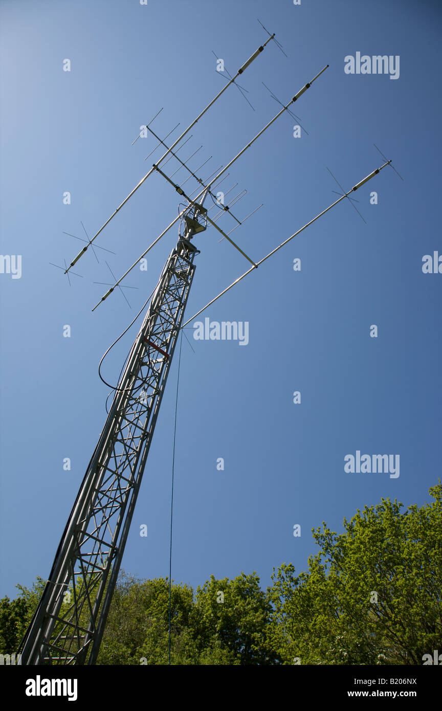 Amateur Radio Yagi Antenna Array And Mast At Herstmonceux Sussex