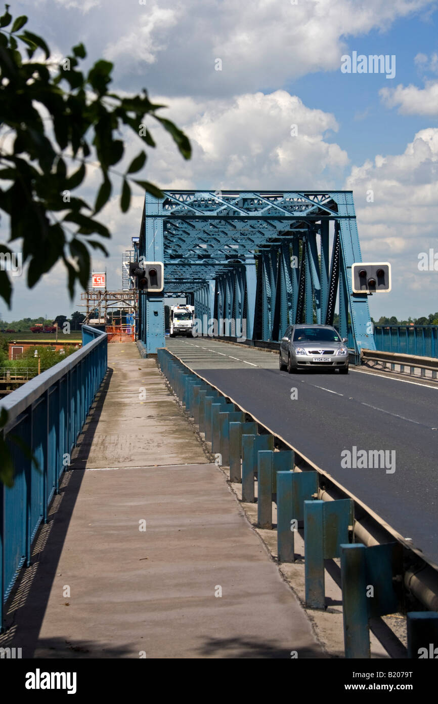 boothferry swing bridge at howden - Stock Image