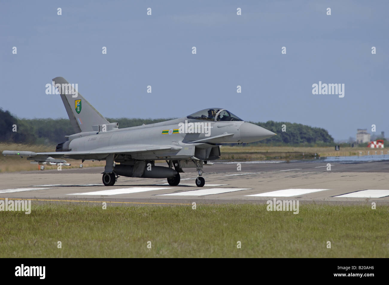 UK - Air Force Eurofighter EF-2000 Typhoon F2 ZJ922/QO-C 3 Squadron RAF Coningsby England - Stock Image