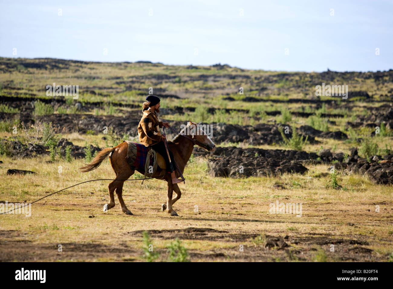 Cowboy Easter Island Chile