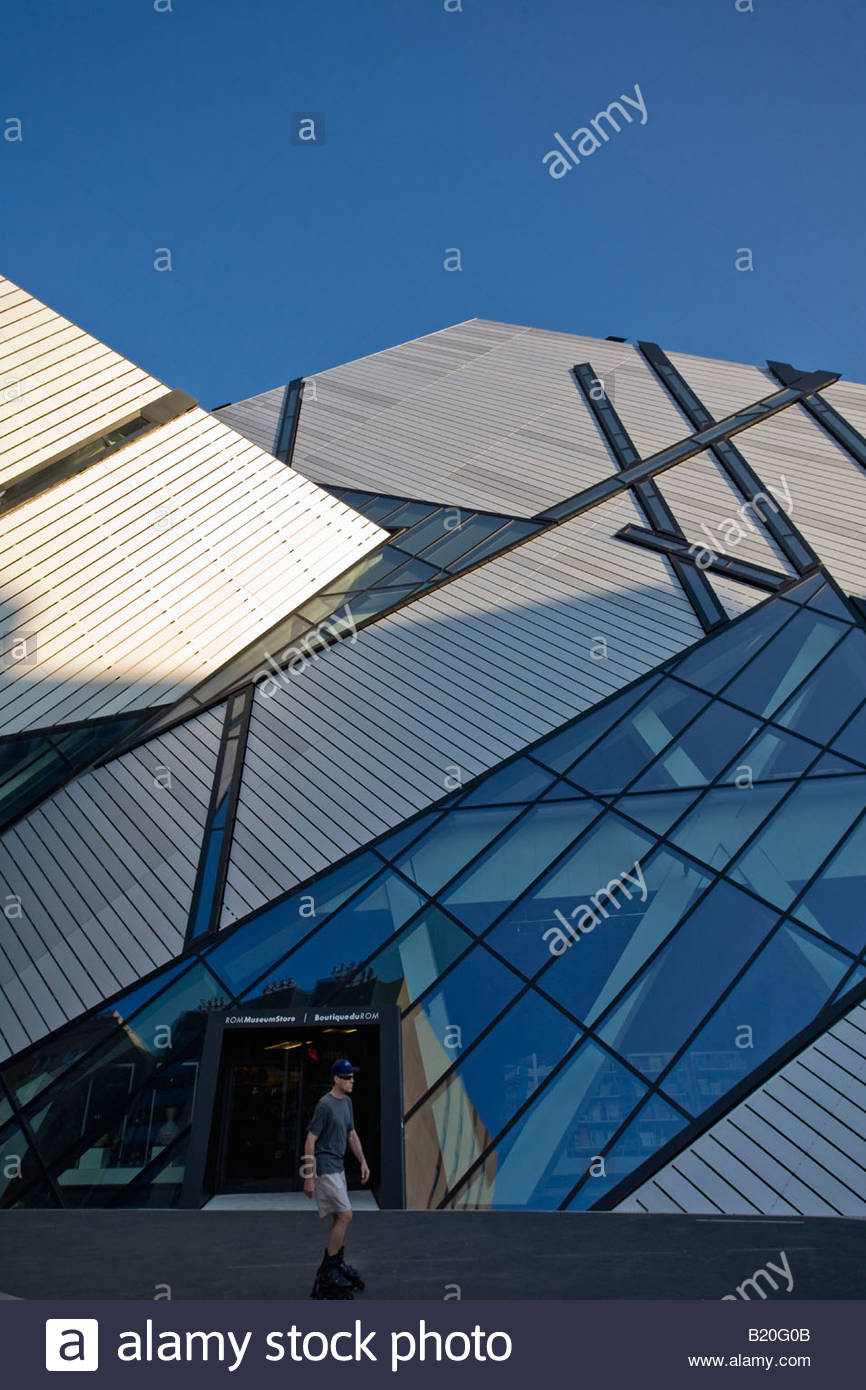 Michael Lee Chin Crystal addition to Royal Ontario Museum in Toronto Ontario Canada Architect Daniel Libeskind - Stock Image