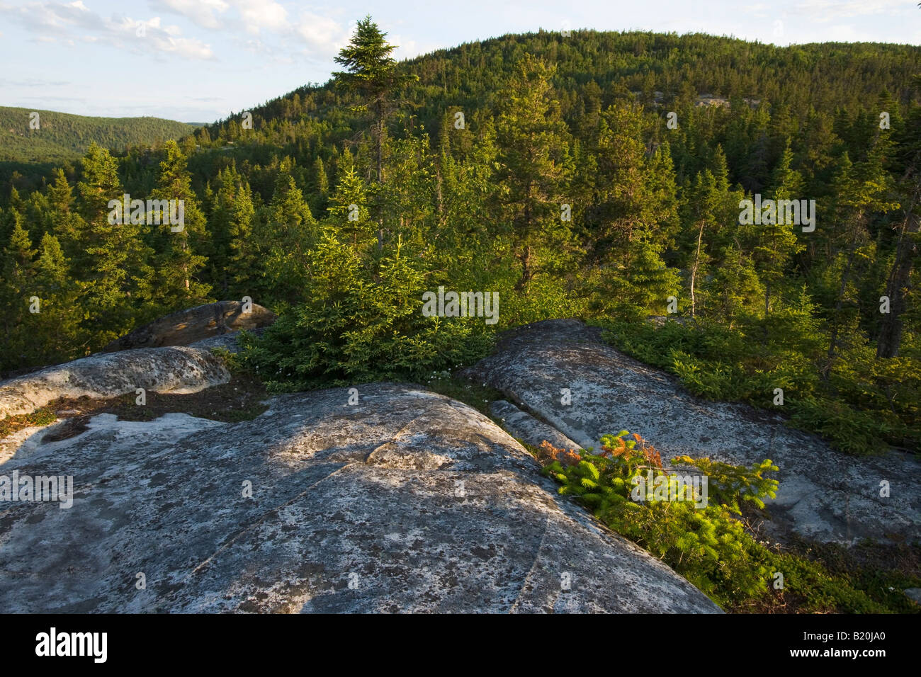 A view in Parc national du Saguenay in Tadoussac, Quebec. Saguenay National Park. Canada. - Stock Image