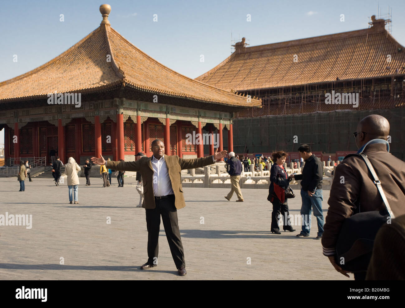 american tourists in the imperial palace forbidden city beijing