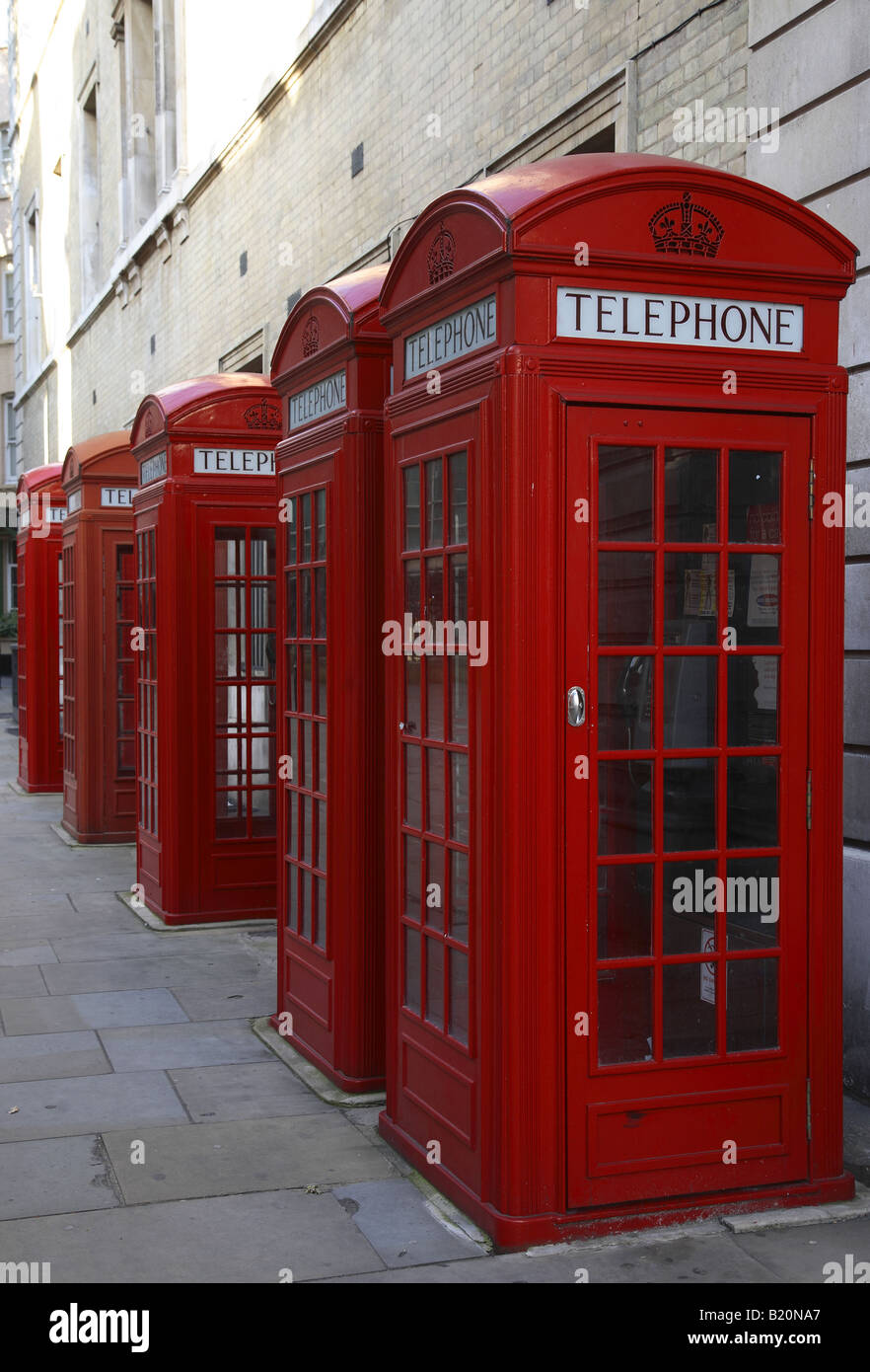 Postboxes near Covent Garden, London, UK - Stock Image