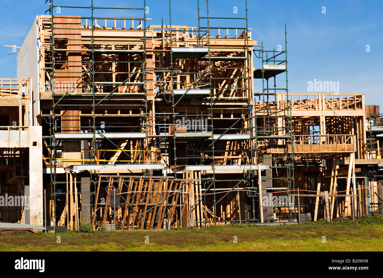 Residential Construction / New Residential Construction.Melbourne Victoria Australia. Stock Photo