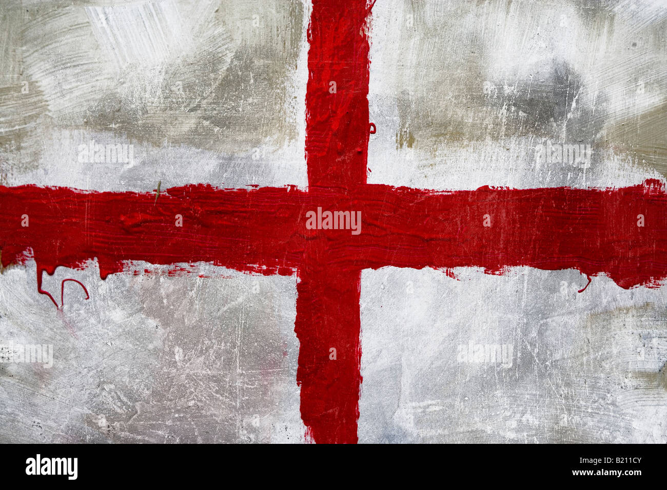 Abstract painting of St Georges flag (English flag) Stock Photo