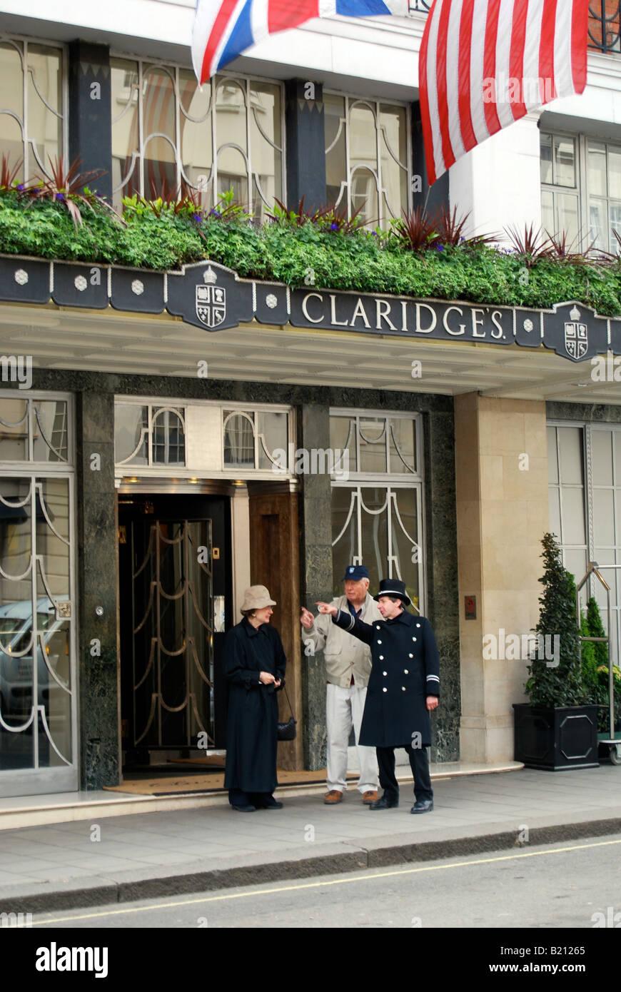 Concierge Hotel Claridges Tourists tourism travel luxury Mayfair London UK - Stock Image