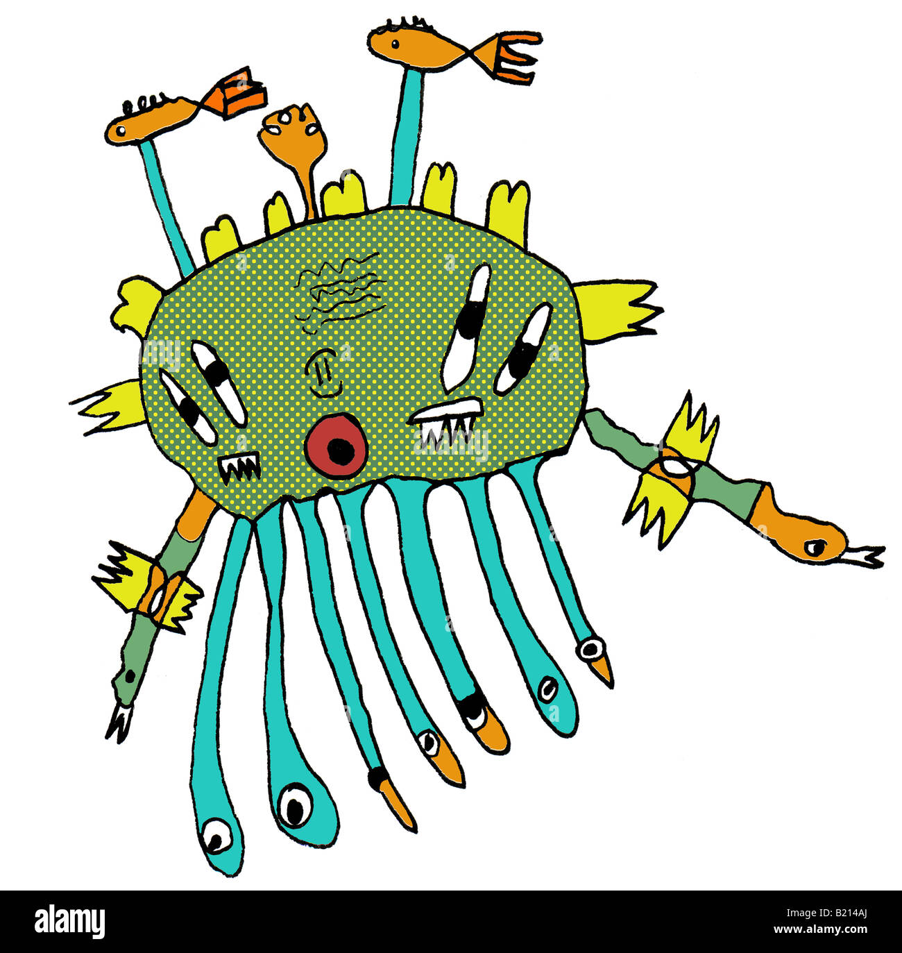 Sea Monster Cut Out Stock Images & Pictures - Alamy