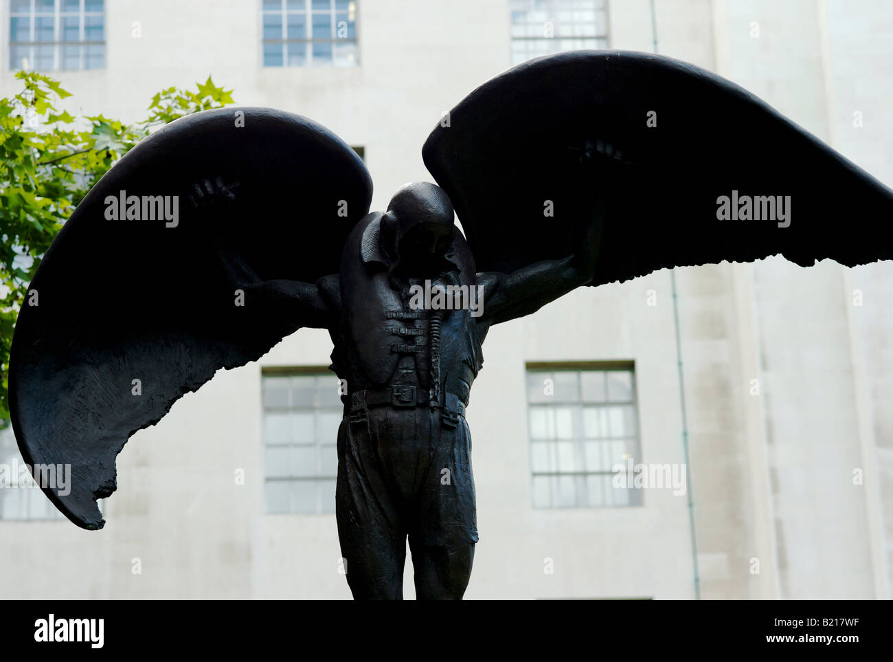 Memorial to the Fleet Air Arm situated outside the Ministry of Defence in London UK - Stock Image