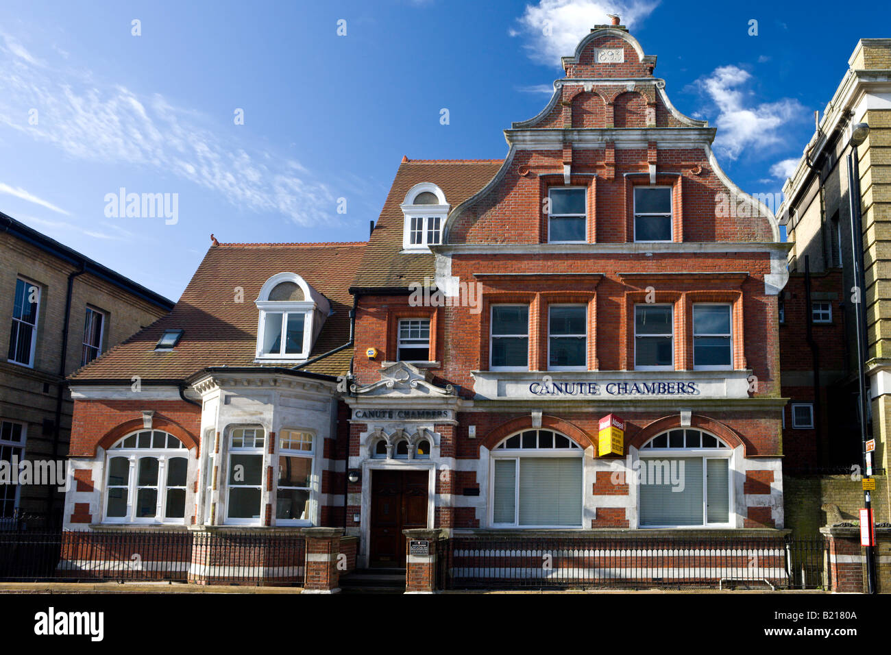 Canute Chambers building once the offices of White Star Line Southampton Hampshire England - Stock Image
