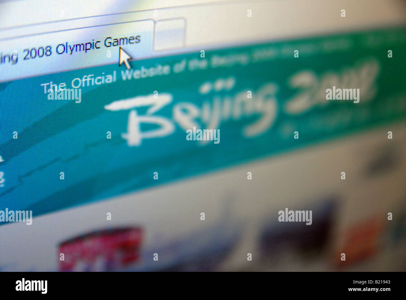 12b424ed72e3 Beijing 2008 olympic games web site Stock Photo  18468803 - Alamy