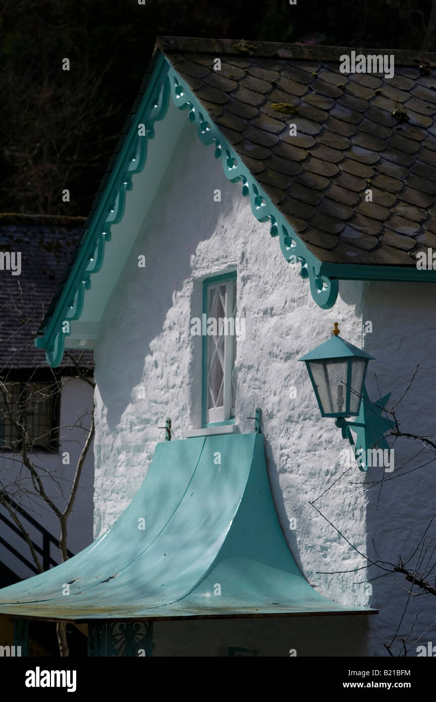 """Portmeirion in North Wales, where """"The Prisoner"""" television series was filmed in the late 1960s. Stock Photo"""