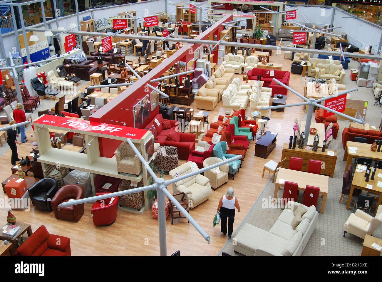 Furniture Display, The Galleria Outlet Shopping Centre, Town Centre,  Hatfield, Hertfordshire, England, United Kingdom