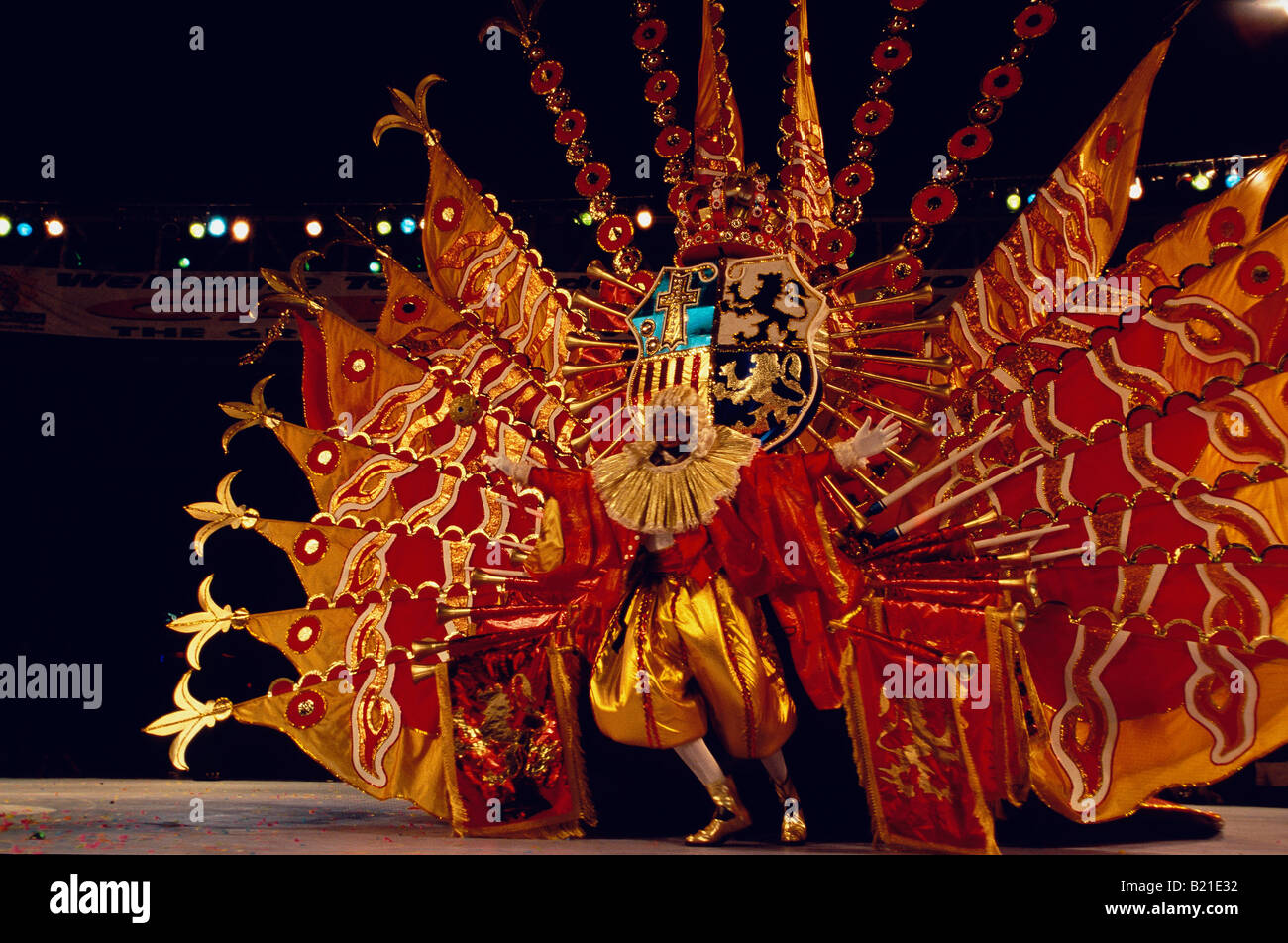 Kings and Queens Costume Parade Dimanche Gras Carnival Port of Spain Trinidad - Stock Image