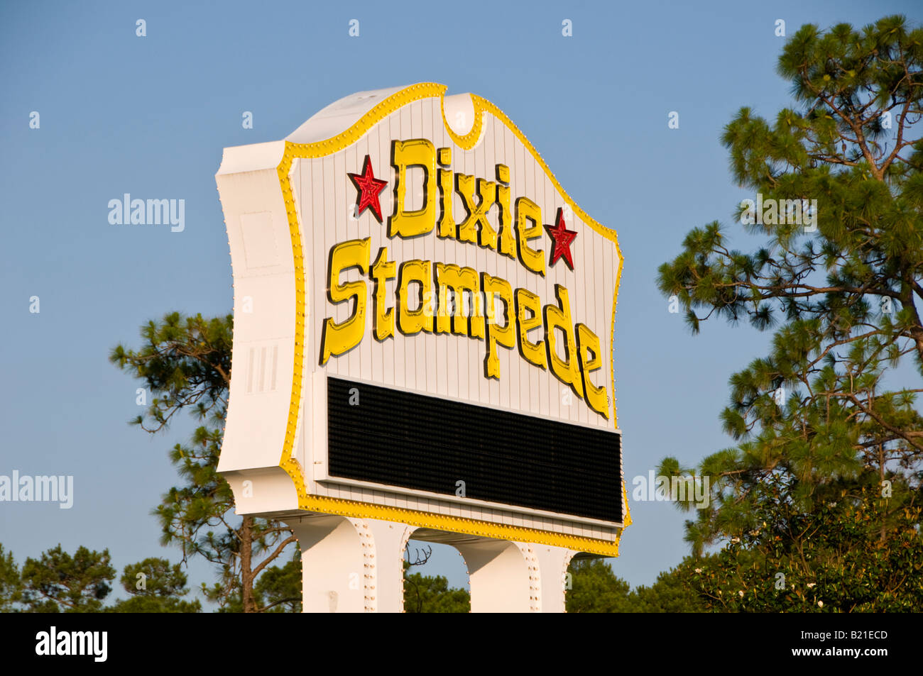 Dolly Parton Dixie Stampede Dinner Show sign Myrtle Beach south carolina SC - Stock Image