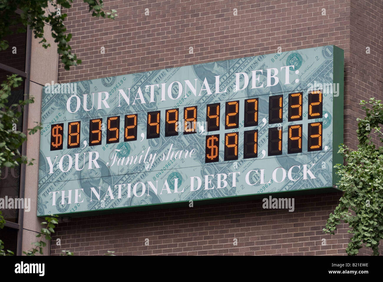 The National Debt Clock in Times Square, New York City New York August 15 2006 - Stock Image