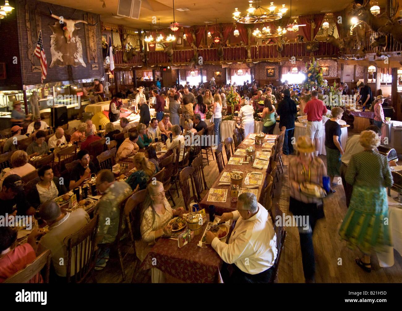 Texas Amarillo The Big Texan Steak Ranch restaurant interior dining room - Stock Image