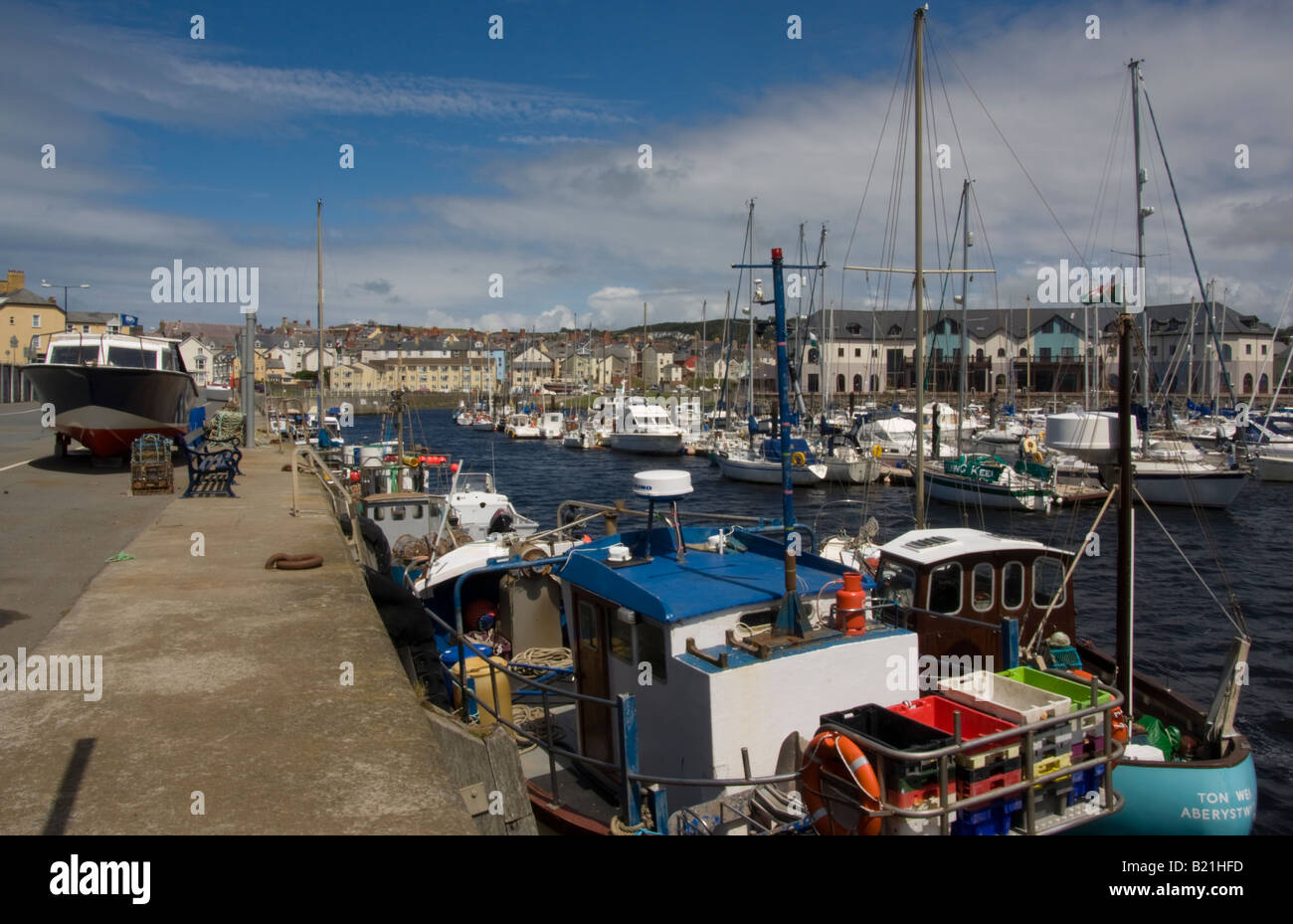 aberystwyth harbour and marina mid wales - Stock Image