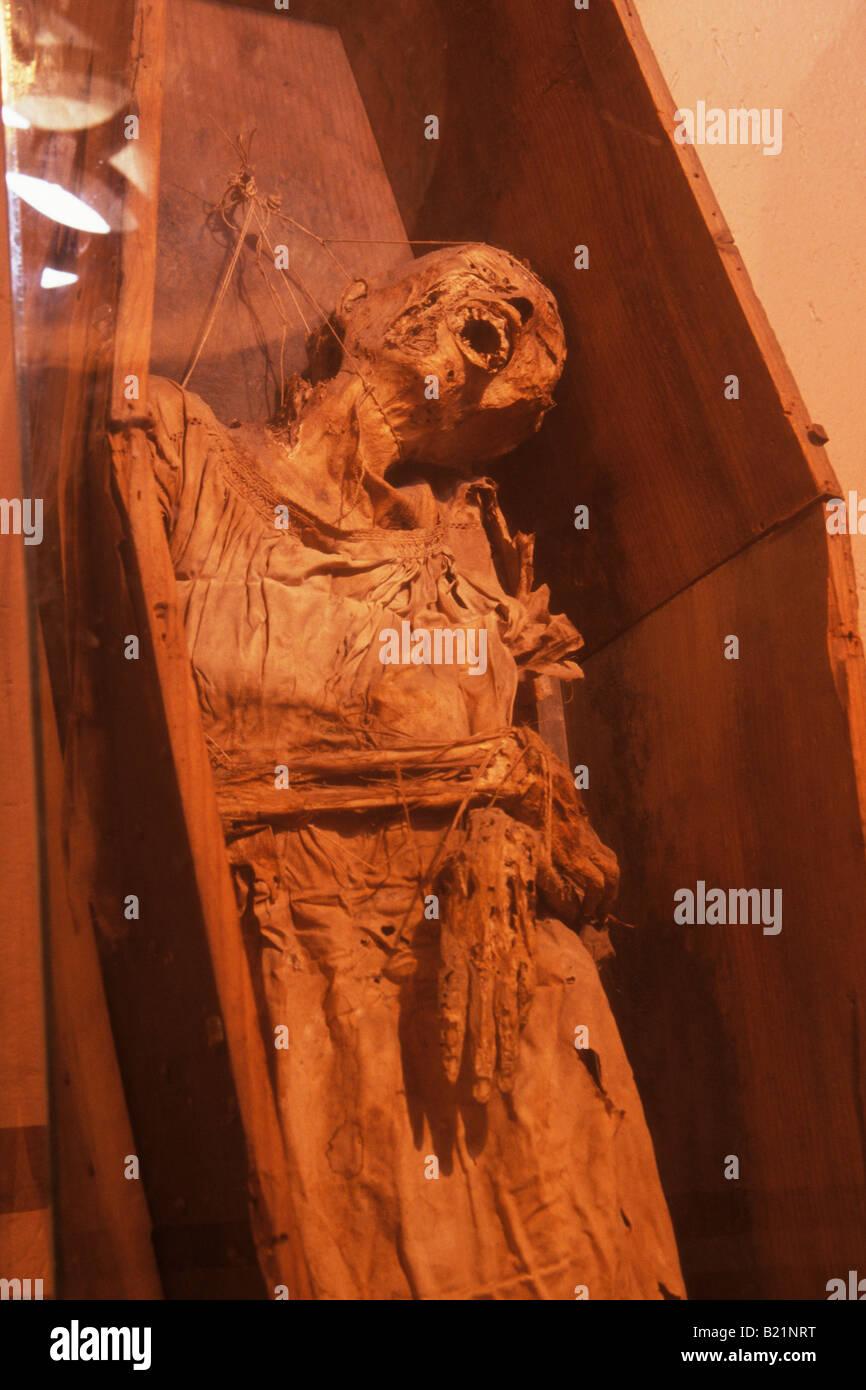Mummy Museum Guanajuato Mexico - Stock Image