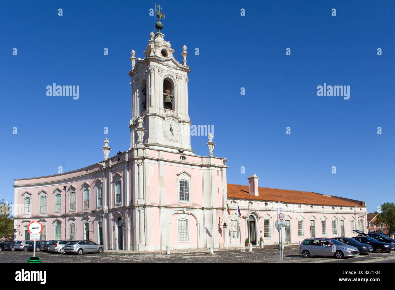 D. Maria I Historical Hotel in Queluz, Lisbon (Portugal). This luxury hotel is built in the former Royal Guard Headquarters. Stock Photo
