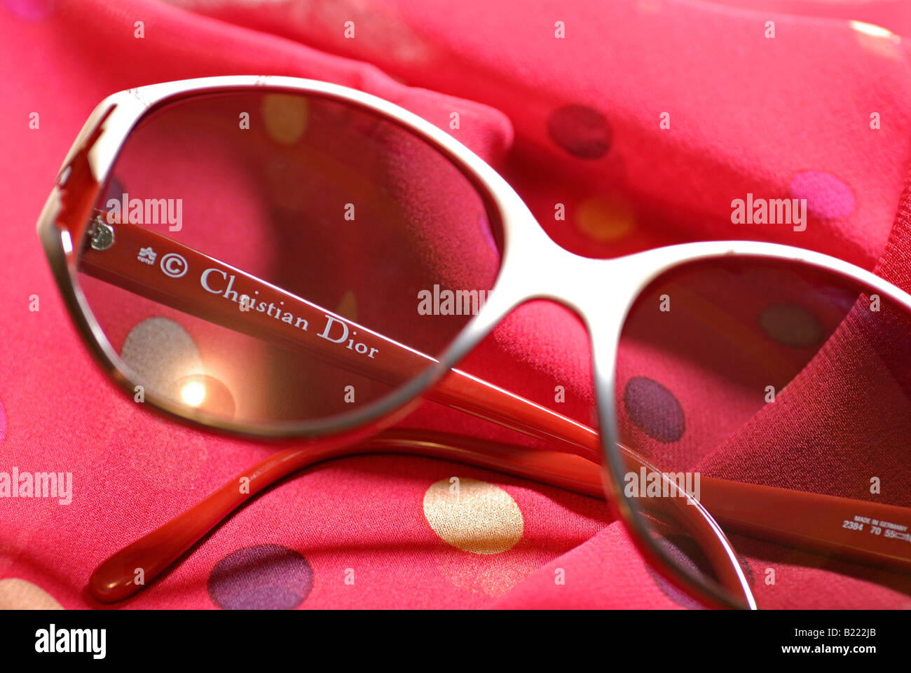 Christian Dior Sunglasses from the 80s - Stock Image