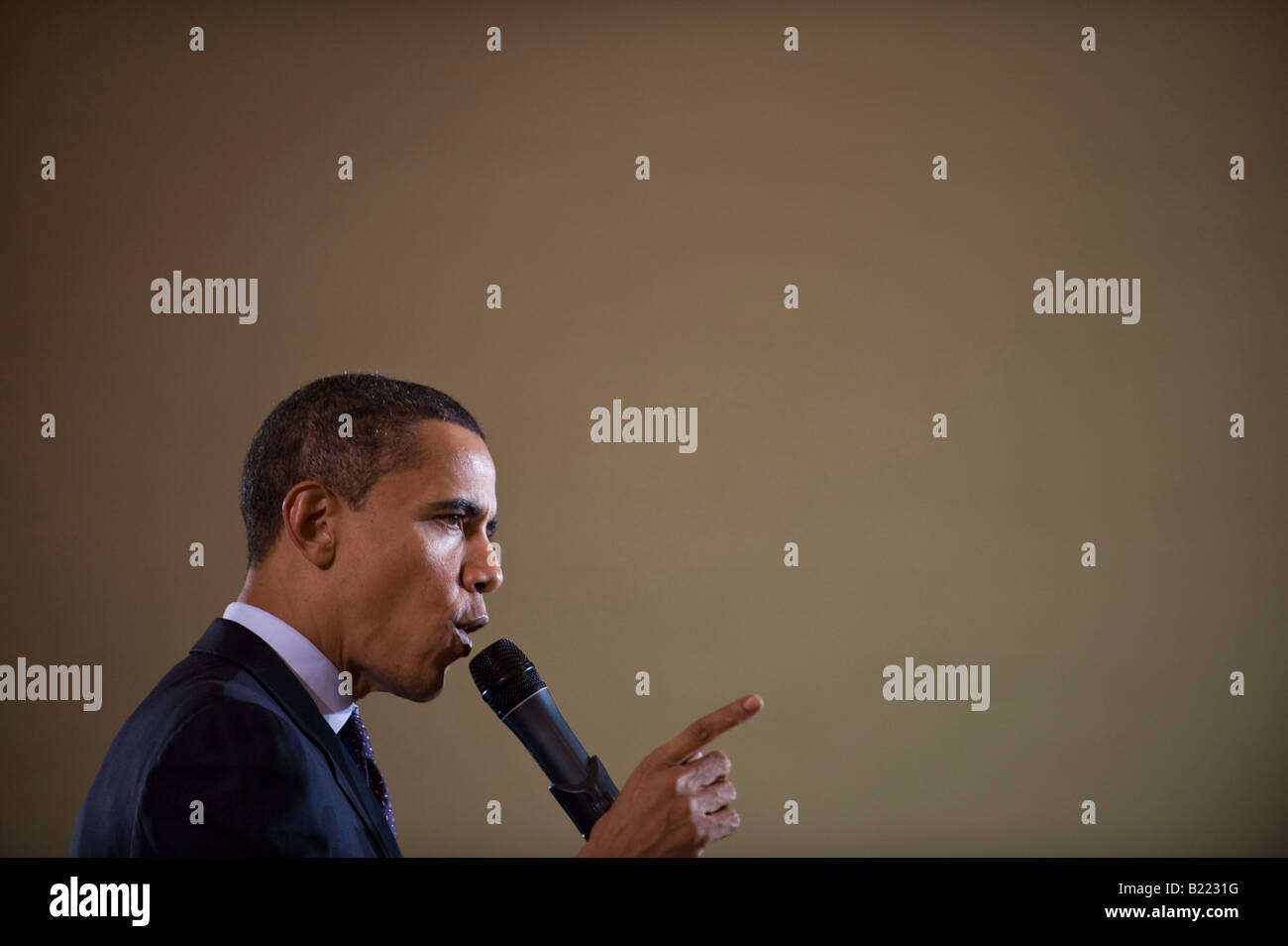 Des Moines, IA - 123007 -  Presidential Candidate Senator Barack Obama at a campaign event in Des Moines, IA December - Stock Image