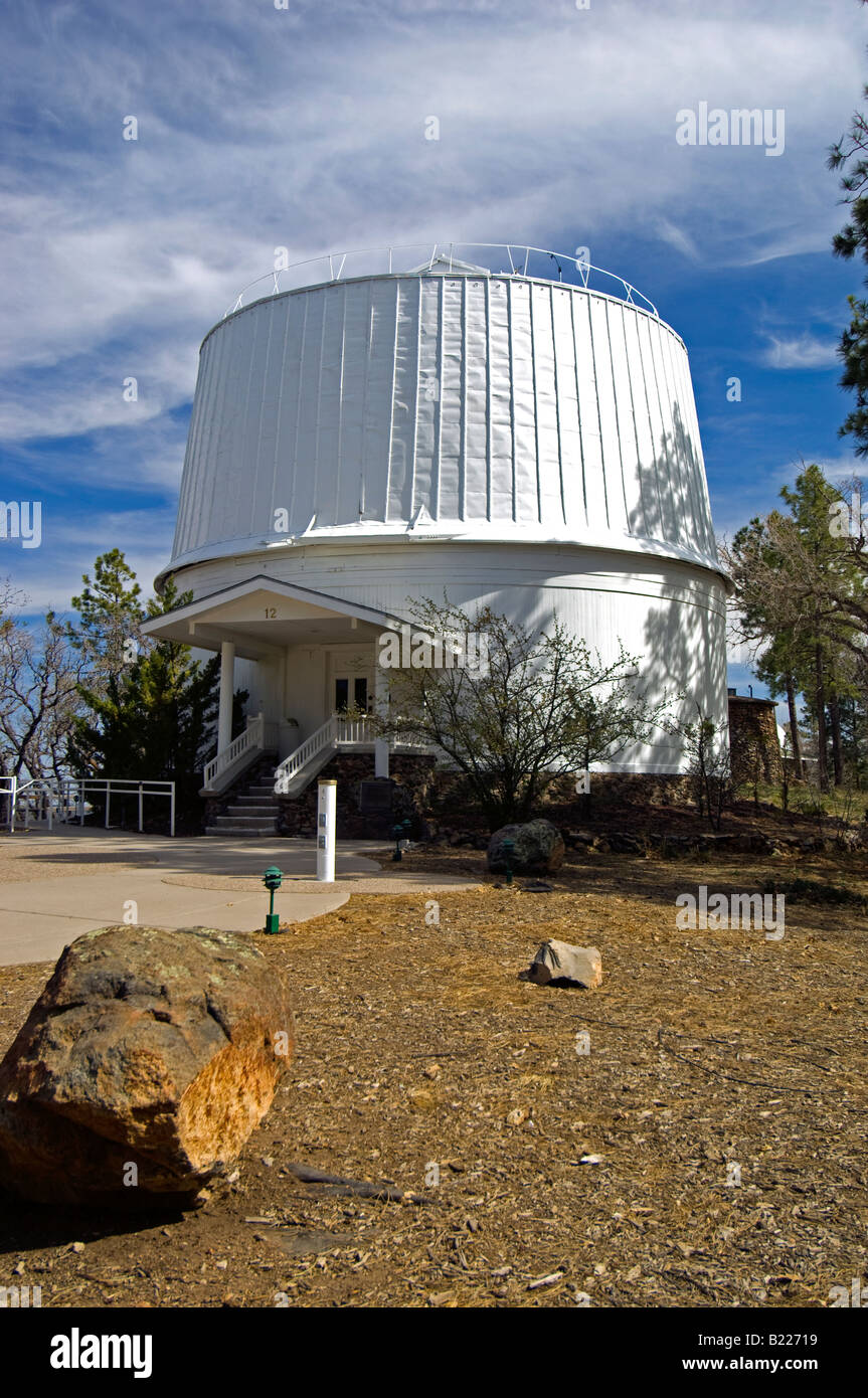 The Clark Telescope Dome at the Lowell Observatory - Stock Image