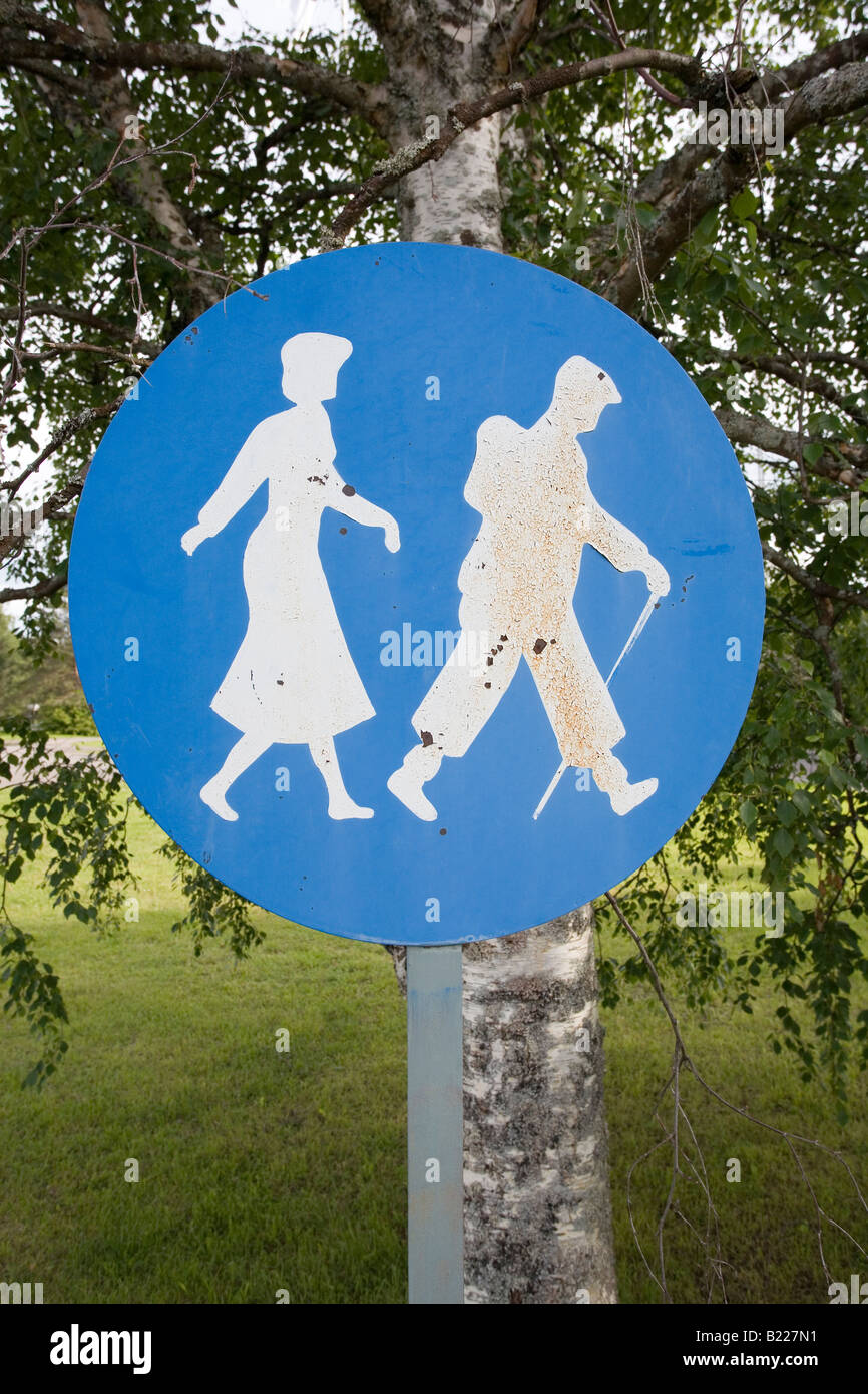 dated traffic sign - Stock Image