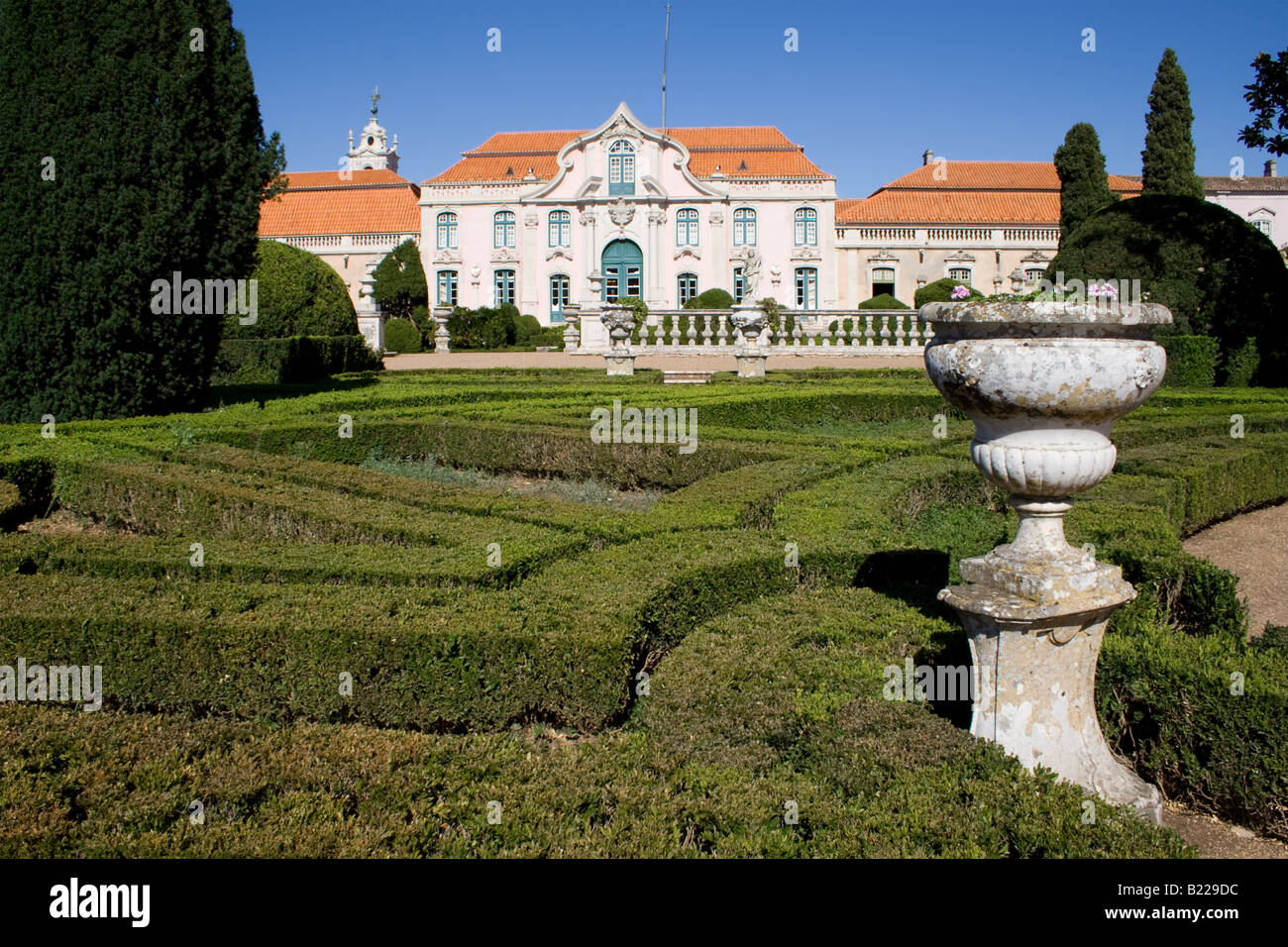 Neptune Gardens (baroque) And One Of The Facades Of The Queluz Royal Palace  (