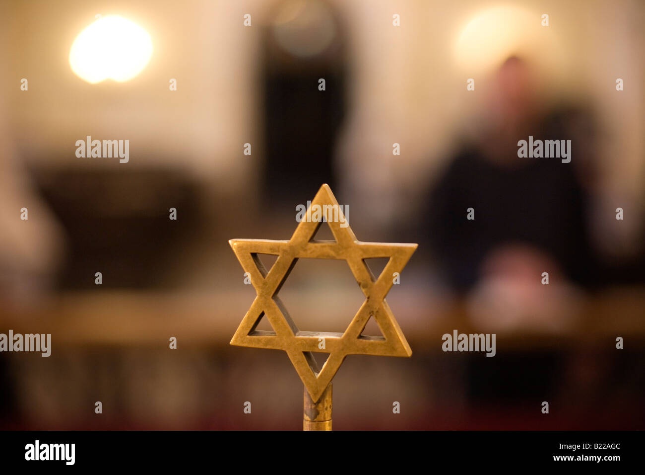 Star of David in a Synagogue. Stock Photo