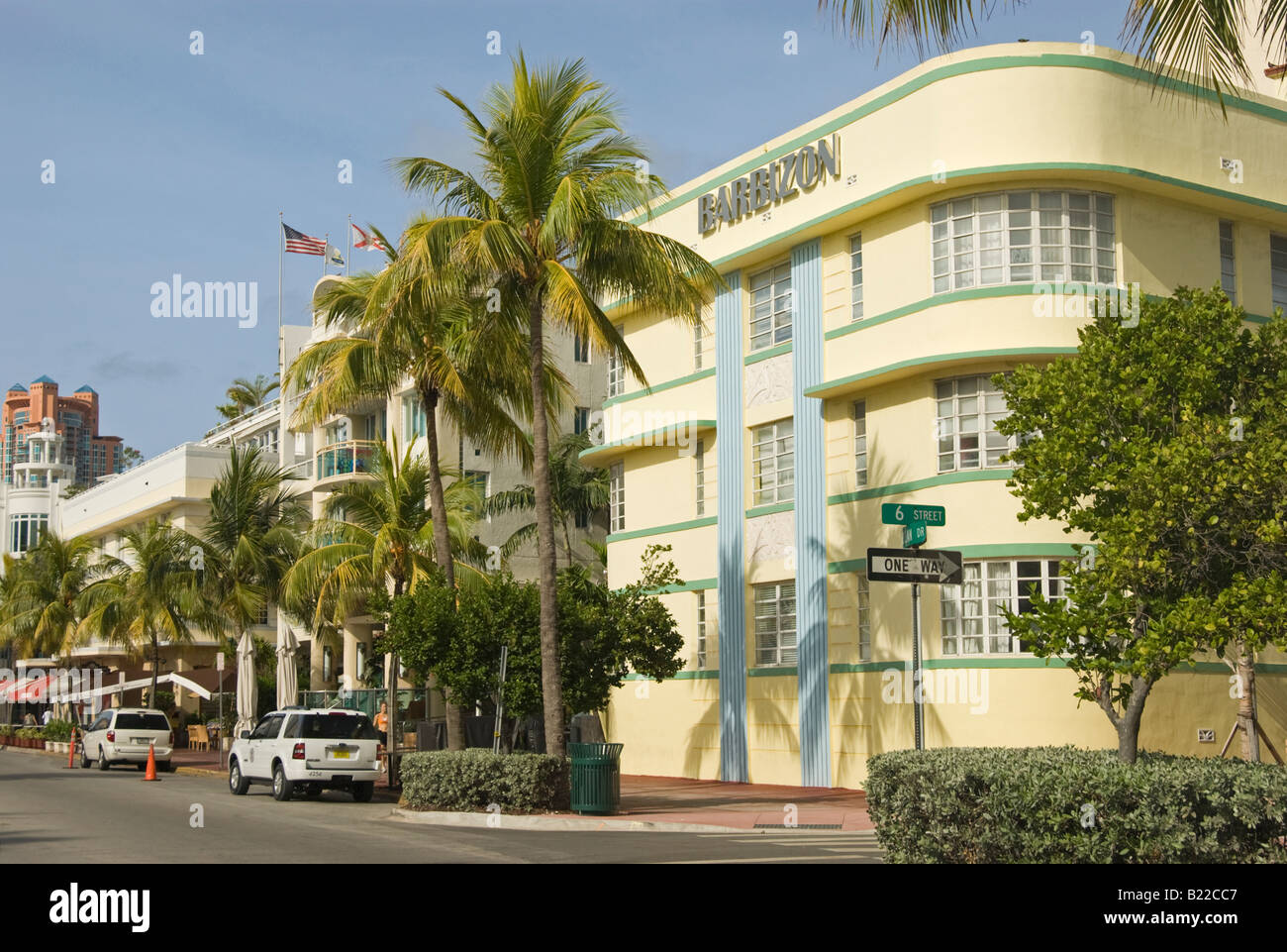 Barbizon Hotel on Ocean Drive in South Beach Miami This art deco hotel was designed by Henry Hohauser in 1937 - Stock Image