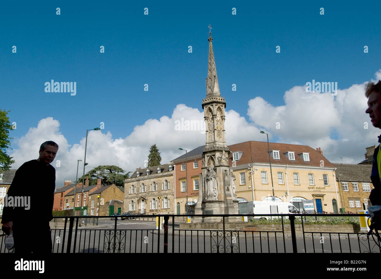 The Banbury Cross famous from the nursery rhyme in the centre of the Oxfordshire town - Stock Image
