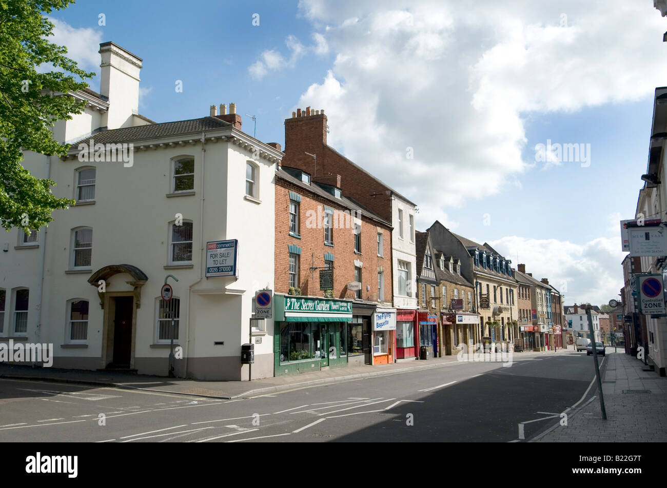 Banbury the market town and source of nursery rhyme with a cross - Stock Image