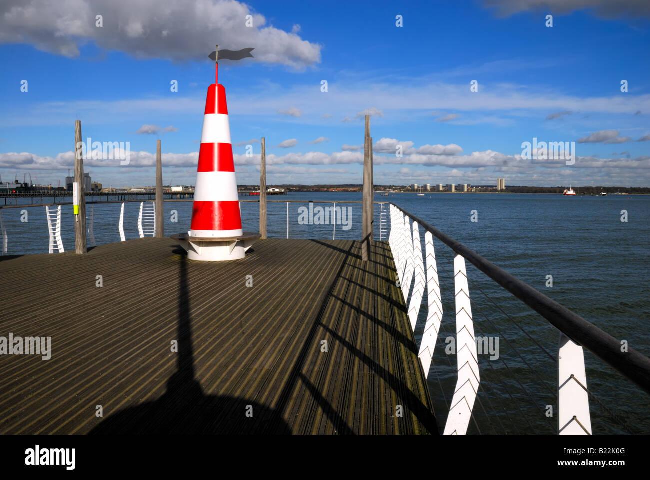 Jetty at Hythe Southampton Water Hampshire England UK - Stock Image