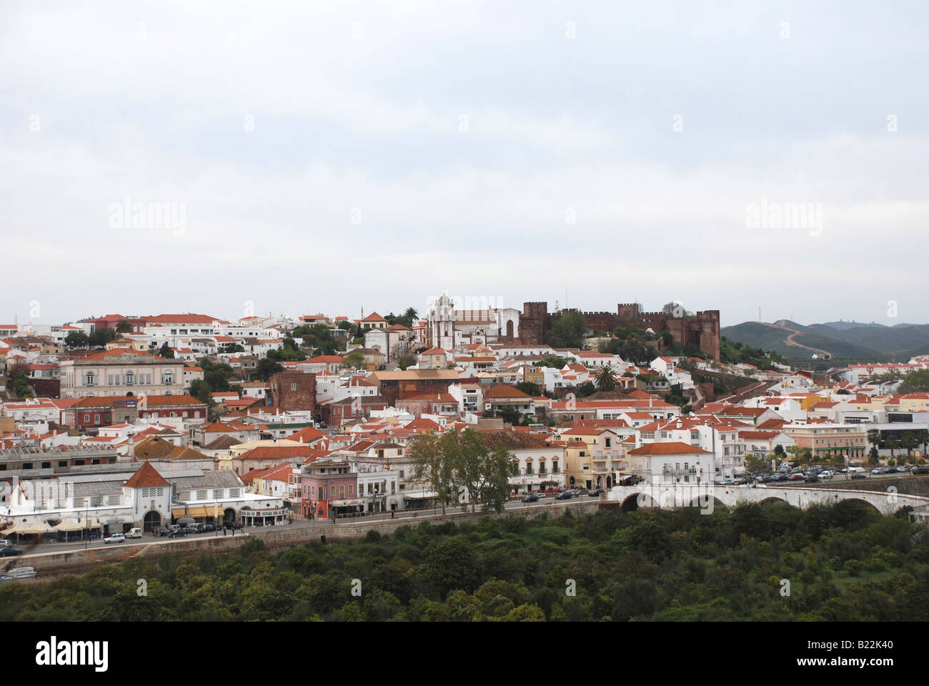 Town and castle of Silves, Algarve, Portugal Stock Photo