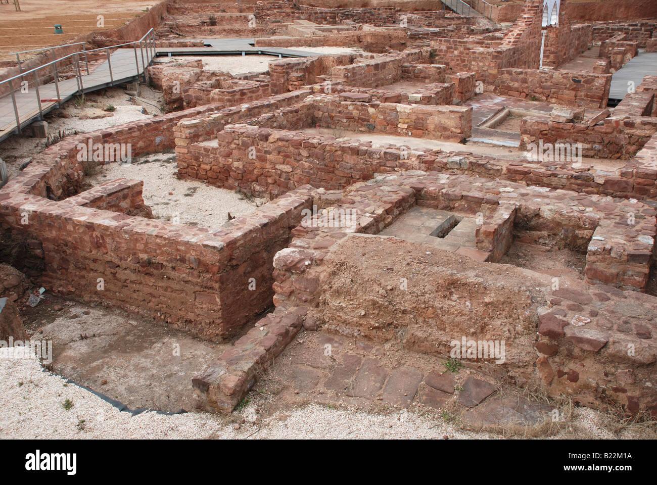 Archeological dig at Silves castle Algarve Portugal Stock Photo