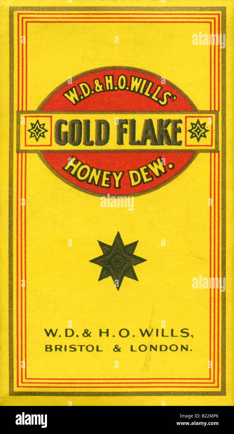 Wills Honey Dew Gold Flake Cigarette Packet FOR EDITORIAL USE ONLY - Stock Image
