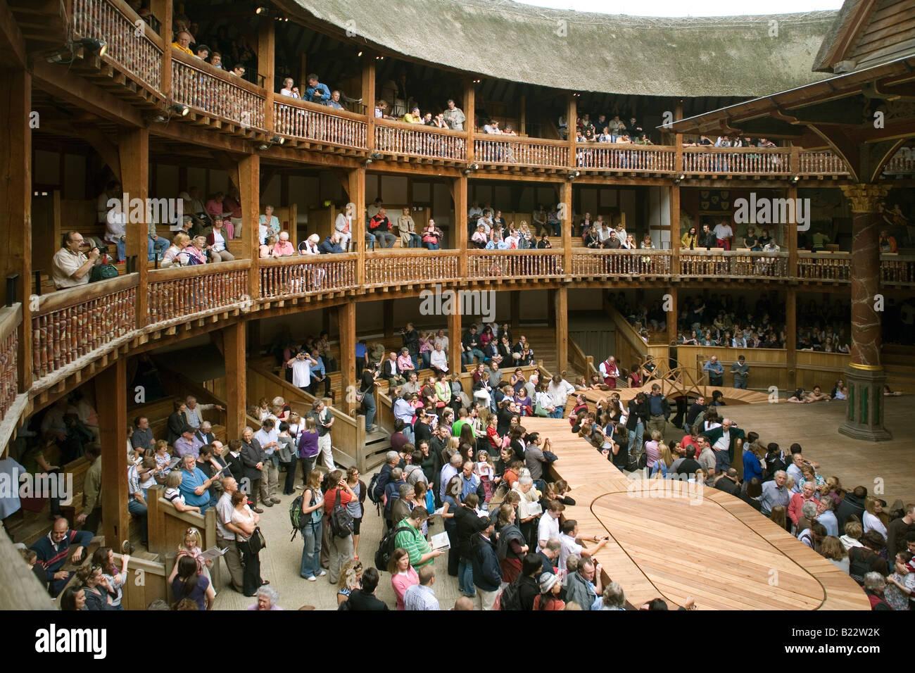 England London Globe theatre - Stock Image
