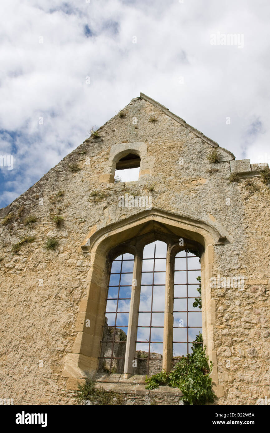 Detail of the Window of the chapel at Godstow Nunnery, Oxford, UK - Stock Image
